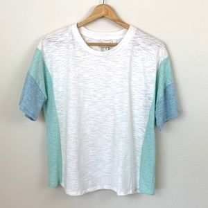 NLT No Less Than White Stripe Short Sleeve Tee